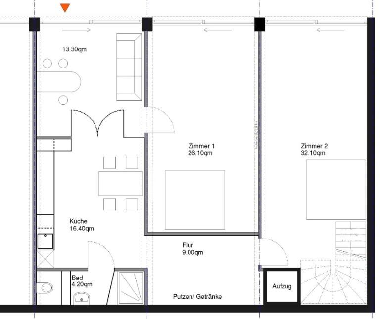Nur 1 Großzügiges Wg Zimmer In 2 Zi Wohnung Im Atelier Loftstil