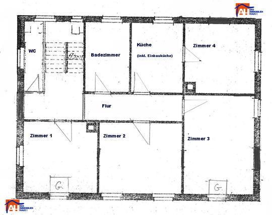 Grundriss wohnung 4 zimmer  2 WG-Zimmer in stilvoller 4-Zi.-DG-Wohnung direkt am Altstadtrand ...
