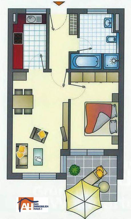 neubau erstbezug 2 zimmer wohnung mit balkon in guter innenstadtnaher lage von weingarten. Black Bedroom Furniture Sets. Home Design Ideas