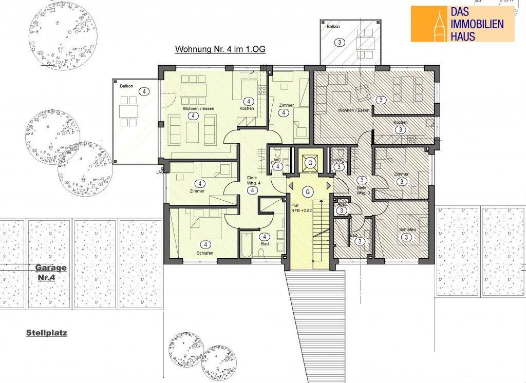 Neubau modern und komfortabel 4 zimmer wohnung mit for 4 zimmer wohnung gottingen