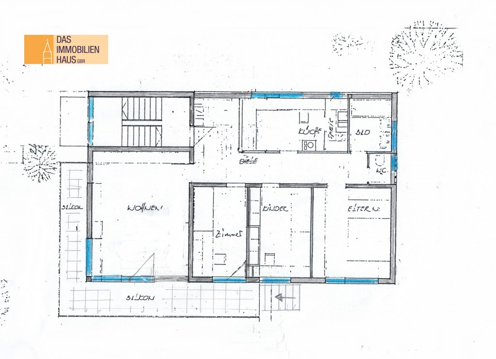 4 ½ -Zimmer-Wohnung mit Balkon u. Garten in schöner ...